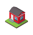 residential isometric house isolated on white vector image vector image