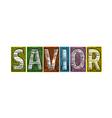 savior blocks type vector image