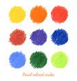 set colorful dots vector image