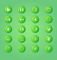 set mobile bright green elements for ui game vector image vector image