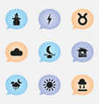 set of 9 editable air icons includes symbols such vector image vector image