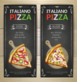 Set of pizza menu banners vector image vector image