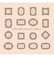 Set of vintage frames and design elements - vector image vector image