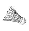 sketch a badminton shuttlecock vector image