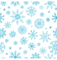 Snowflakes Hand Drawn Pattern Winter