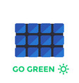 solar panel in flat style vector image vector image