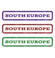 south europe watermark stamp vector image vector image