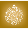 Stylized Sphere From Icons vector image vector image