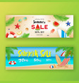 summer sale promotion banner background vector image vector image