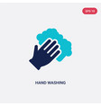 two color hand washing icon from cleaning concept vector image vector image
