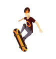 visitor isometric skatepark young man jumping vector image