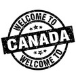 welcome to canada black stamp vector image vector image