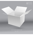 White empty box vector image
