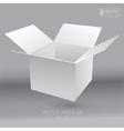 White empty box vector image