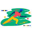 young man running a sport liferunners - a man vector image vector image
