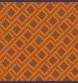 zigzagging knitted wool seamless pattern vector image