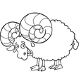 zodiac aries or ram coloring page vector image vector image