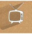 Retro tv Flat modern web button on a flat vector image