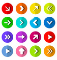 Colorful Paper Arrows Set in Bent Circle vector image