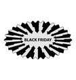 abstract - black friday - sticker vector image vector image