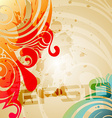abstract grunge style background vector image vector image