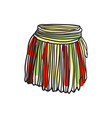 african woman skirt hand drawn icon vector image