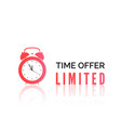 alarm clock with special offer limited time offer vector image