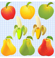 apples pears bananas vector image