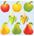 apples pears bananas vector image vector image