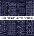 asian luxury patterns pack vector image vector image