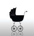 baby stroller old black vector image vector image