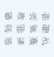 banking business and finance flat icons set vector image vector image