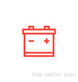 battery icon linear pictogram vector image vector image