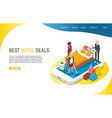 best hotel deals landing page website vector image vector image