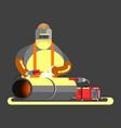 big welder in work vector image