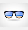 black framed sun-glass vector image