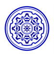 blue and white mandala vector image vector image
