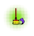 Brush for a floor icon comics style vector image