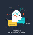 business comunications flat concept vector image
