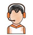 call center man design vector image