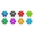 casino betting chips vector image
