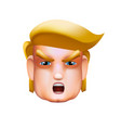 character portrait icon of donald trump giving vector image