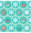 Christmas flat seamless pattern with gifts vector image vector image