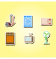color icons with home technics vector image