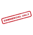 Commercial Only Text Rubber Stamp vector image vector image