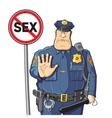 Cop prohibits sex vector image vector image