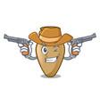 cowboy amphora character cartoon style vector image vector image