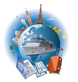 cruise ship travel vector image vector image