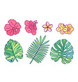 cute drawn plant clipart vector image