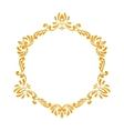 Elegant luxury vintage gold floral frame vector image vector image